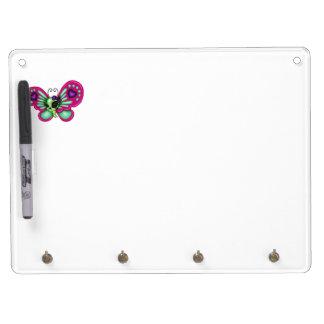 Retro Fun Zombie Butterfly Dry Erase Boards