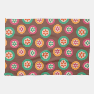 Retro Funky 70s Pattern Towel