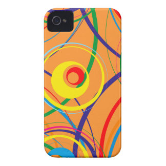 Retro Funky Circle Design Case-Mate iPhone 4 Case