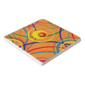 Retro Funky Circle Design Trivets