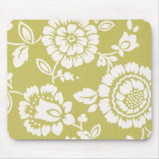 Retro Funky Floral Mousepad
