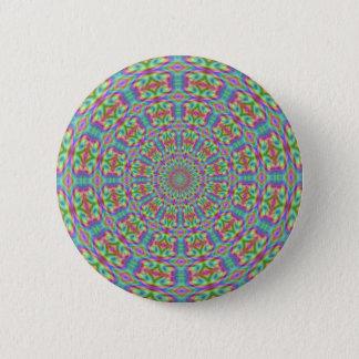 Retro Funky Kaleidoscope Button
