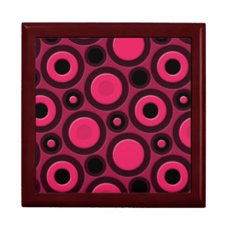 Retro Funky Pink Pattern Jewelry Boxes