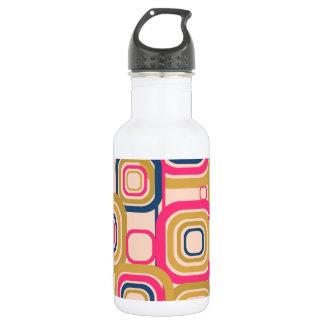 Retro Funky Square Design 532 Ml Water Bottle