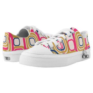 Retro Funky Square Design Printed Shoes