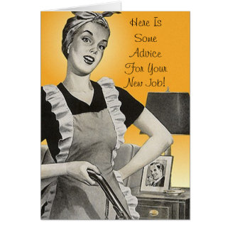 Retro Funmy Advice Congratulations New Job Card