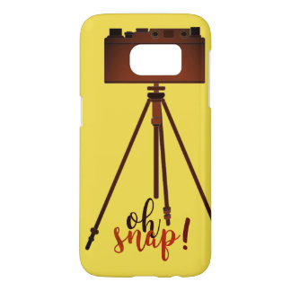 Retro Funny Cartoon Yellow Camera Old Fashion Chic