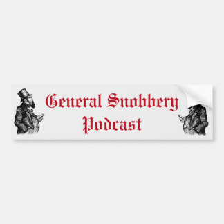 Retro G. Snobbery Bumper Sticker
