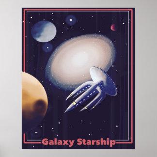 "Retro ""Galaxy Starship"" Poster"