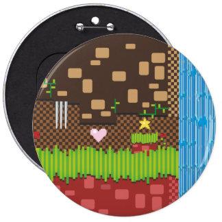 Retro Game 6 Cm Round Badge