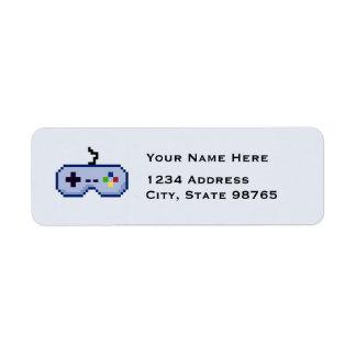 Retro Game Controller Return Blue Address Labels