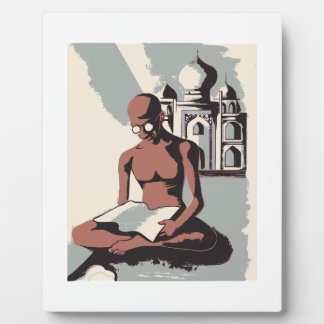 Retro Gandhi Art Photo Plaques
