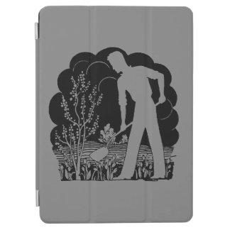 Retro Gardener Silhouette Gray iPad Air Cover