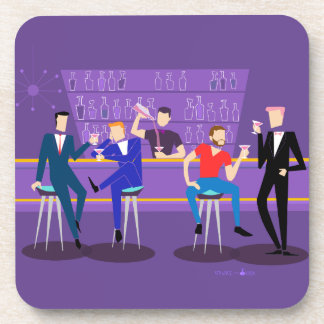 Retro Gay Bar Hard Plastic Coasters
