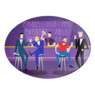 Retro Gay Bar Porcelain Platter