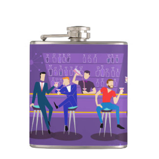 Retro Gay Bar Vinyl Wrapped Flask