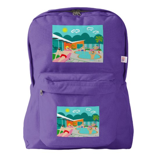 Retro Gay Pool Party American Apparel Backpack
