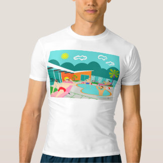 Retro Gay Pool Party Compression T-Shirt