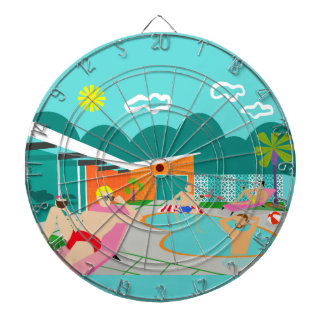Retro Gay Pool Party Dart Board