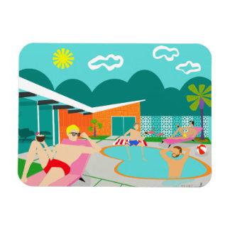 Retro Gay Pool Party Flexible Magnet