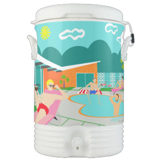 Retro Gay Pool Party Igloo Beverage Cooler
