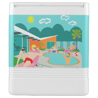 Retro Gay Pool Party Igloo Can Cooler