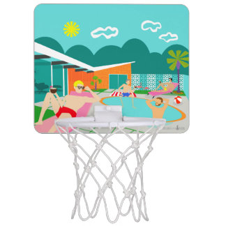 Retro Gay Pool Party Mini Basketball Hoop
