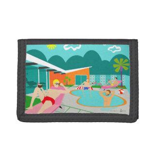 Retro Gay Pool Party Nylon Wallet