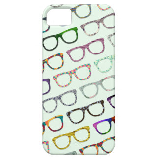 Retro Geek Hipster Glasses Pattern iPhone5 case