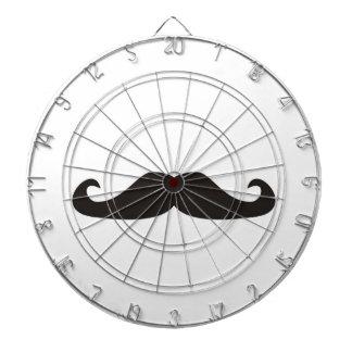 Retro gentelman mustaches dart board