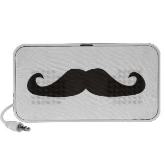Retro gentelman mustaches hipsters speakers
