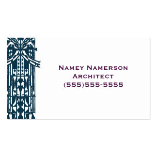Retro Geometric Architectural Pattern Shape Tribal Pack Of Standard Business Cards