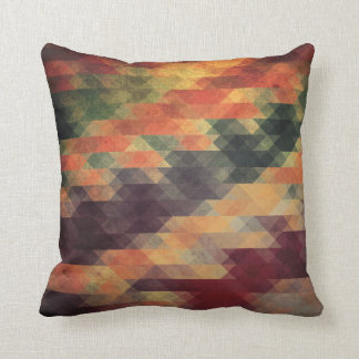 Retro Geometric Bold Stripes Worn Colors Cushion