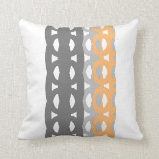 retro geometric design pillow original art