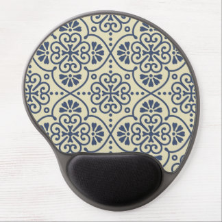 Retro geometric floral ornamental pattern gel mouse pad