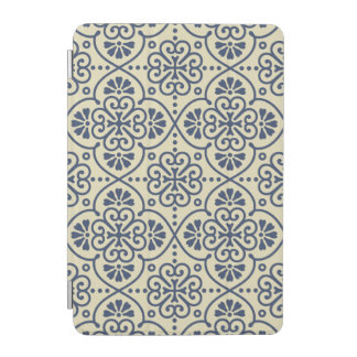 Retro geometric floral ornamental pattern iPad mini cover