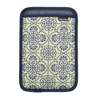 Retro geometric floral ornamental pattern iPad mini sleeve