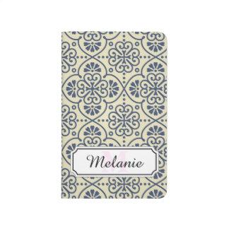 Retro geometric floral ornamental pattern journal
