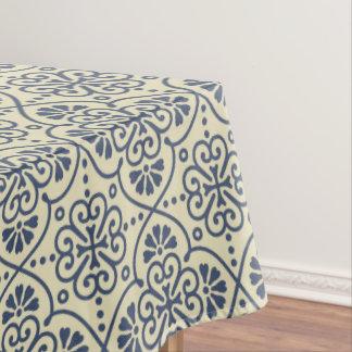 Retro geometric floral ornamental pattern tablecloth