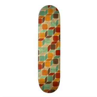 Retro geometric pattern 4 21.3 cm mini skateboard deck