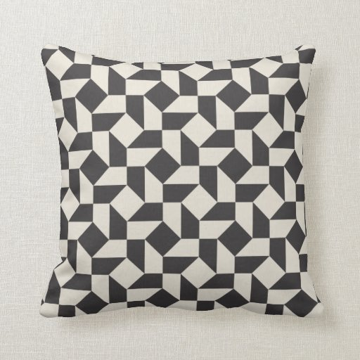 Types Of Decorative Pillow Shapes : Retro Geometric Shapes Pattern Pillow Throw Cushion Zazzle