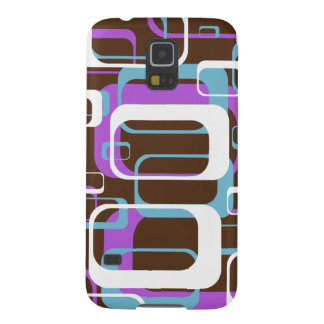 Retro Geometric Squares Brown Purple Blue Galaxy S5 Case