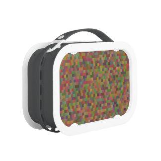 Retro Geometric Squares Elegant Pattern Lunch Box