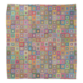 Retro Geometric Tile Pattern Bandanas
