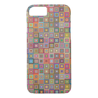 Retro Geometric Tile Pattern iPhone 7 Case