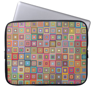 Retro Geometric Tile Pattern Laptop Computer Sleeves