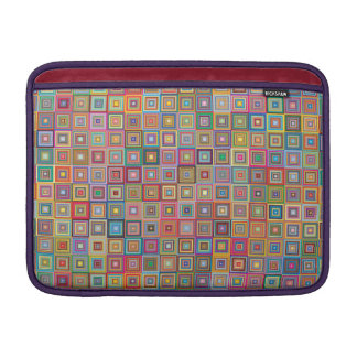 Retro Geometric Tile Pattern MacBook Sleeves