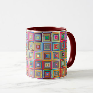 Retro Geometric Tile Pattern Mug
