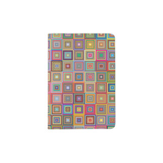 Retro Geometric Tile Pattern Passport Holder