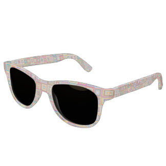 Retro Geometric Tile Pattern Sunglasses